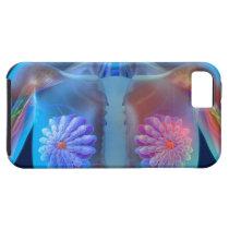 Computer artwork representing breast cancer, iPhone SE/5/5s case