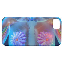 Computer artwork representing breast cancer, iPhone SE/5/5s case