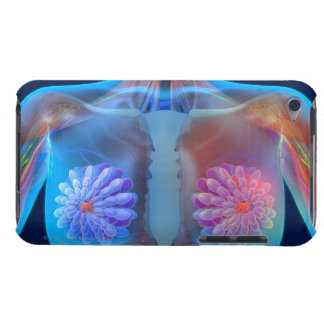 Computer artwork representing breast cancer, iPod touch case
