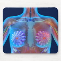 Computer artwork representing breast cancer, mouse pad