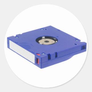 Computer backup tape classic round sticker