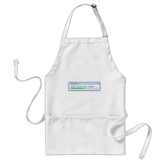 Computer based cooking adult apron