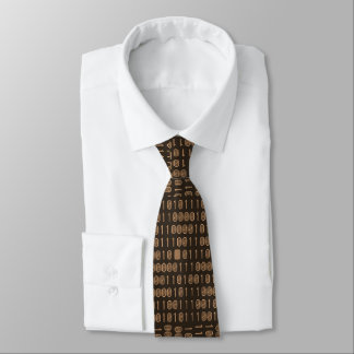 """Computer/Binary Code - Brown"" Neck Tie"