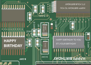 Computer birthday cards greeting photo cards zazzle computer birthday card bookmarktalkfo Gallery