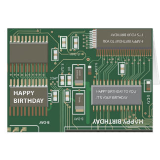 computer birthday greeting card
