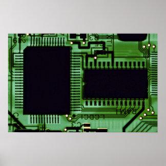 Computer board print
