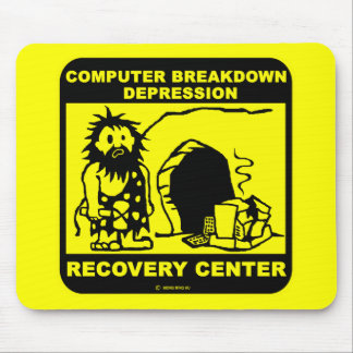 Computer breakdown depression recovery center mouse pad