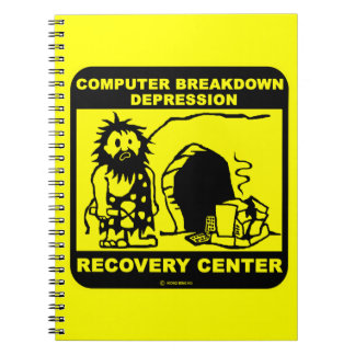 Computer breakdown depression recovery center notebook