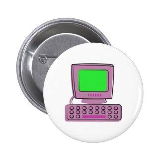 Computer Pinback Button