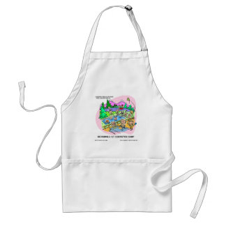 Computer Camp Funny Tees Mugs Gifts Etc. Adult Apron