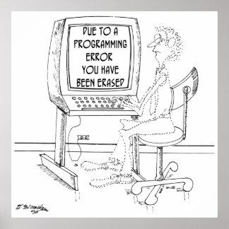 Computer Cartoon 1164 Poster
