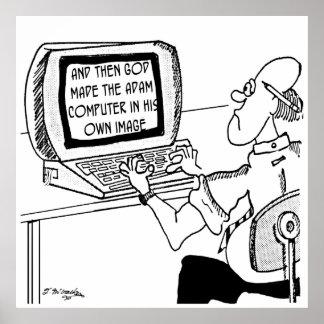 Computer Cartoon 2618 Poster