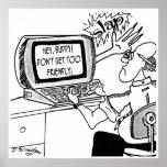 Computer Cartoon 2620 Poster