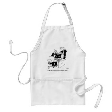 Professional Business Computer Cartoon 3879 Adult Apron