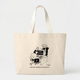 Computer Cartoon 3879 Large Tote Bag