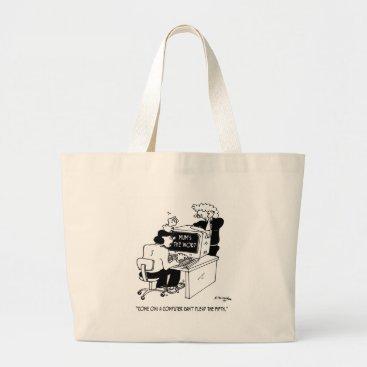 Professional Business Computer Cartoon 3879 Large Tote Bag