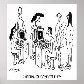 Computer Cartoon 4130 Poster