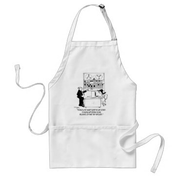 Professional Business Computer Cartoon 4311 Adult Apron
