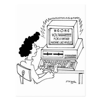 Computer Cartoon 4369 Postcard