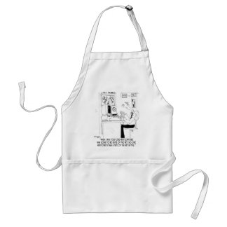 Computer Cartoon 7058 Adult Apron