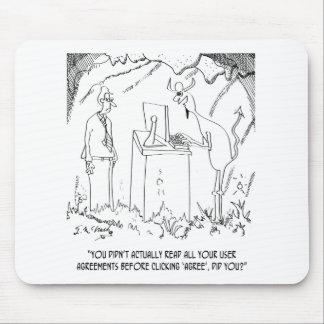 Computer Cartoon 9312 Mouse Pad