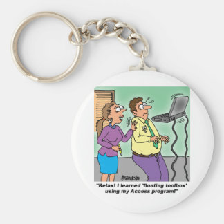 Computer Cartoon Gifts Key Chain