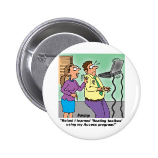 Computer Cartoon Gifts Pinback Button
