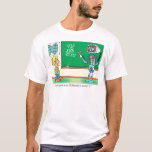 Computer Cartoon Robot in classroom T-Shirt