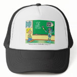 Computer Cartoon Robot in classroom Trucker Hat