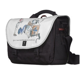 Computer Cartoon-Screw Loose Laptop Bag