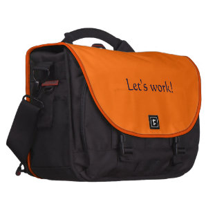 computer case with orange flings down and back laptop bag