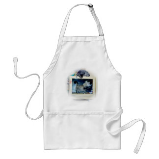 computer cats adult apron