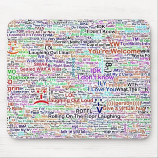 Computer Chat Word Art Mouse Pads