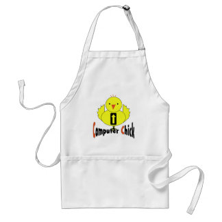Computer Chick Adult Apron