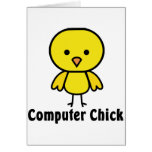 Computer Chick Greeting Card