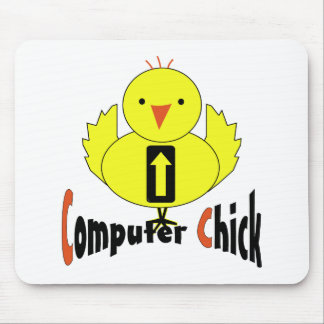 Computer Chick Mouse Pad