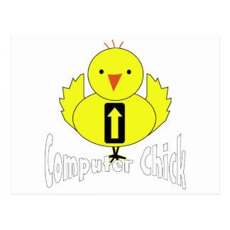Computer Chick Postcard