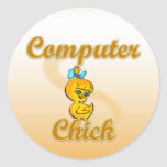 Computer Chick Stickers