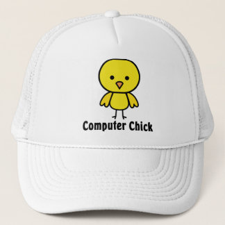 Computer Chick Trucker Hat