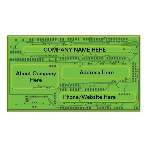 Computer Chip Double-Sided Standard Business Cards (Pack Of 100)