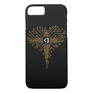 Computer Chip heart iPhone 8/7 Case