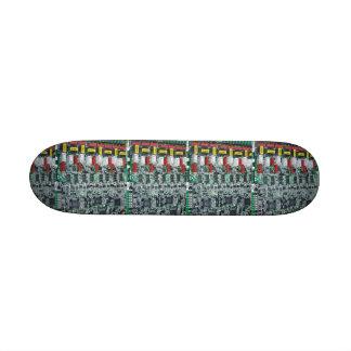 Computer Chip Print Skateboard