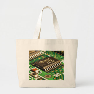 Computer Chips Circuits Boards Canvas Bags