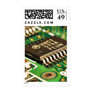 Computer Chips Circuits Boards Postage Stamp