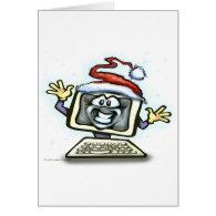 Computer Christmas Greeting Card