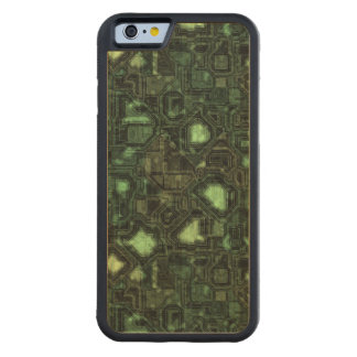 Computer circuit background carved maple iPhone 6 bumper case