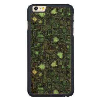 Computer circuit background carved maple iPhone 6 plus slim case