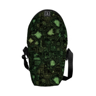Computer circuit background courier bag