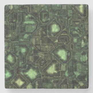 Computer circuit background stone coaster