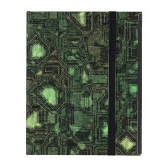 Computer circuit background iPad folio case